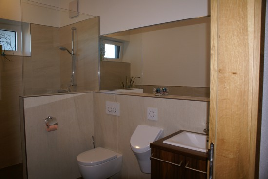 Badezimmer / Kleines Bad optisch vergrößert